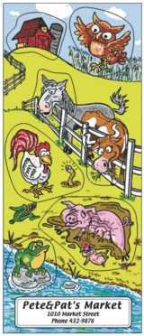 Barnyard educational stickers